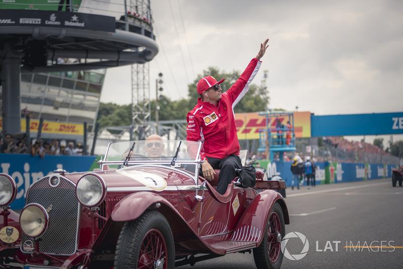 Kimi Raikkonen, Ferrari en el desfile