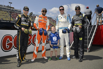 William Byron, Hendrick Motorsports, Chevrolet Camaro Hertz, Chase Elliott, Hendrick Motorsports, Chevrolet Camaro SunEnergy1, Alex Bowman, Hendrick Motorsports, Chevrolet Camaro Nationwide Children's Hospital, and Jimmie Johnson, Hendrick Motorsports, Chevrolet Camaro Lowe's for Pros and Bricen Thall.