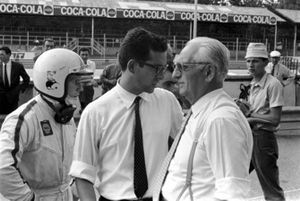 Chris Amon, Ferrari, Mauro Forghieri, chief engineer Ferrari, Enzo Ferrari