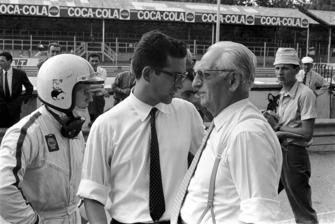 Chris Amon, Ferrari, Mauro Forghieri, chief engineer at Ferrari, Enzo Ferrari