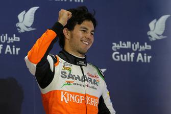 Podio: tercer lugar Sergio Pérez, Force India