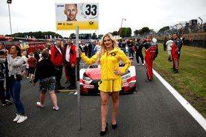 Grid girl of René Rast, Audi Sport Team Rosberg
