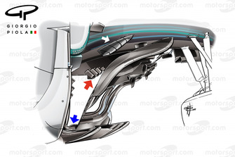 Mercedes F1 W09 bargeboard, Monza GP