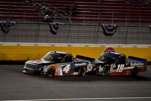 Todd Gilliland, Kyle Busch Motorsports, Toyota Tundra JBL/SiriusXM and Noah Gragson, Kyle Busch Motorsports, Toyota Tundra Safelite AutoGlass