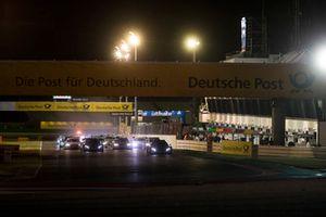 Edoardo Mortara, Mercedes-AMG Team HWA, Mercedes-AMG C63 DTM leads at the start of the race