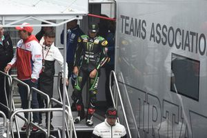 Hafizh Syahrin, Monster Yamaha Tech 3, leaving Safety commission meeting