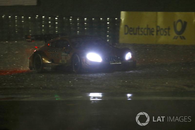 Lucas Auer, Mercedes-AMG Team HWA, Mercedes-AMG C63 DTM through the gravel