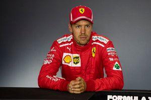Sebastian Vettel, Ferrari SF71H lors de la conférence de presse