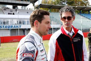#99 Precote Herberth Motorsport Porsche 911 GT3 R: Robert Renauer with Dr. Frank-Steffen Walliser, Head of Porsche Motorsport GT