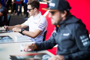 Stoffel Vandoorne, McLaren, firma autografi