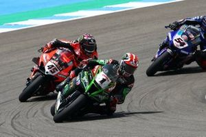 Jonathan Rea, Kawasaki Racing Team, Scott Redding, Aruba.it Racing Ducati, Race 1, Spanish WorldSBK