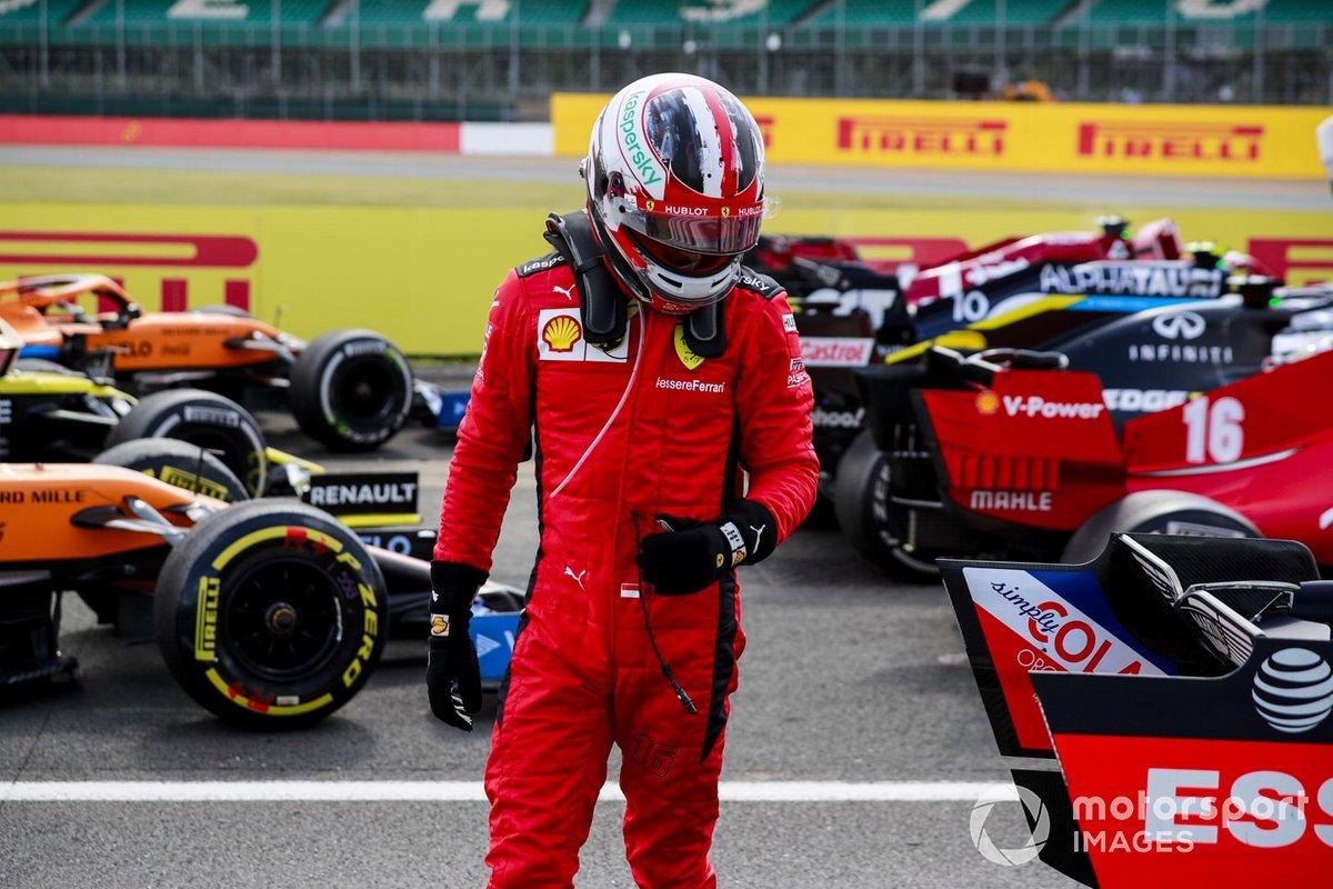 Charles Leclerc, Ferrari en Parc Ferme