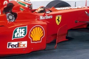 Eddie Irvine, Ferrari F399 with the illegal bargeboard