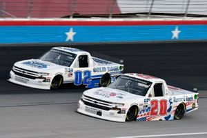 Spencer Boyd, Young's Motorsports, Chevrolet Silverado y Tate Fogleman, Young's Motorsports, Chevrolet Silverado Solid Rock Carriers