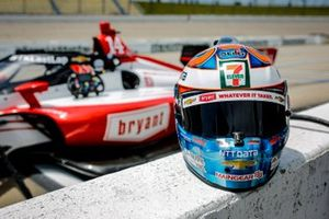 Tony Kanaan, A.J. Foyt Enterprises Chevrolet, helmet