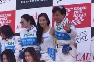 Actor Jackie Chan, on the podium