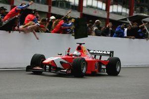 Race winner Robert Doornbos, Arden International
