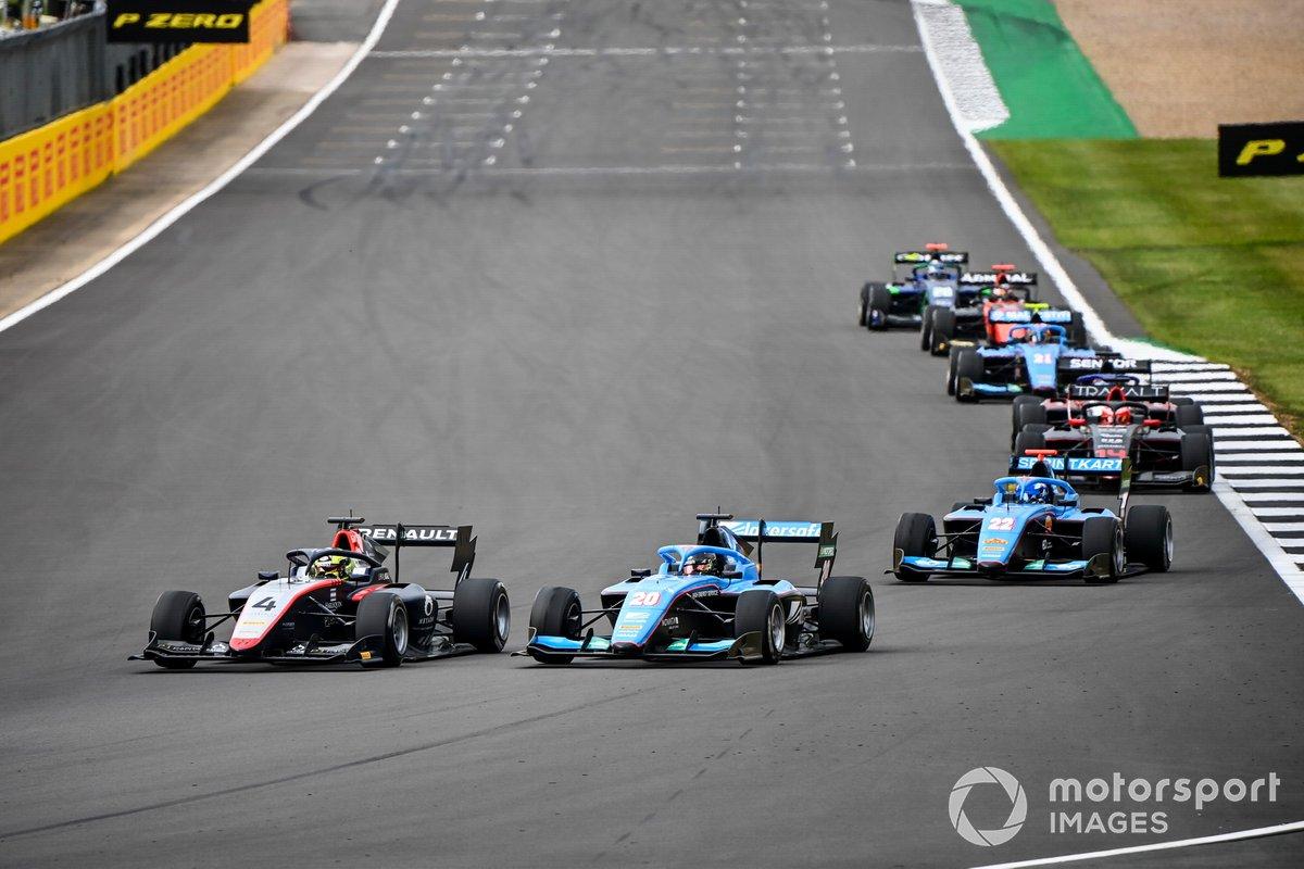 Max Fewtrell, Hitech Grand Prix, Calan Williams, Jenzer Motorsport e Matteo Nannini, Jenzer Motorsport