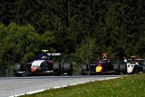 Igor Fraga, Charouz Racing System, leads Dennis Hauger, Hitech Grand Prix, and Sebastian Fernandez, ART Grand Prix