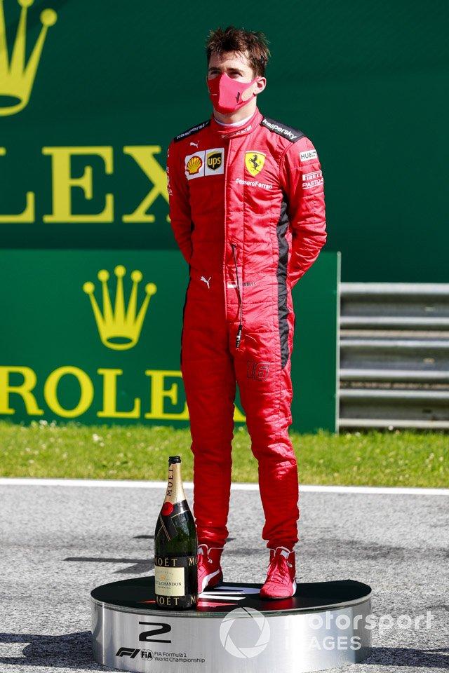 Charles Leclerc, Ferrari sul podio