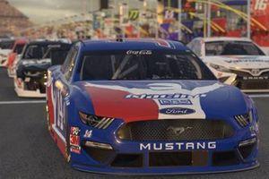 Виртуальные автомобили NASCAR готовятся к кибергонке