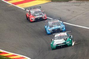 Марко Виттман, BMW Team RMG, BMW M4 DTM, Фабио Шерер, Audi Sport Team WRT, Audi RS 5 DTM, и Лоик Дюваль, Audi Sport Team Phoenix, Audi RS 5 DTM