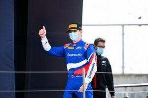 Race Winner Alexander Smolyar, ART Grand Prix celebrates on the podium