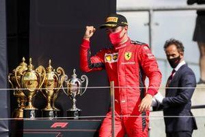Podio: tercer lugar Charles Leclerc, Ferrari