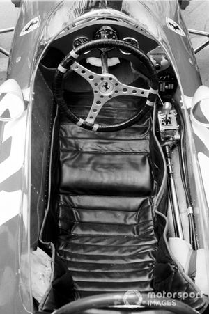 The cockpit of John Surtees, Ferrari 158