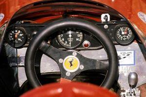 The cockpit of the Ferrari 312B