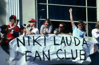 Members of the Niki Lauda Fan Club