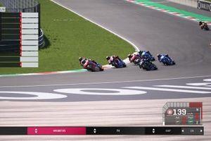 Start zum ersten virtuellen MotoGP-Rennen: Alex Marquez führt