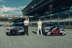 Markus Flasch, CEO of BMW M GmbH and Philipp Eng with the BMW M4 GT3 and BMW M4