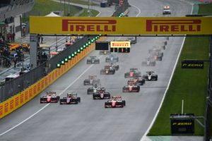 Oscar Piastri, Prema Racing, Frederik Vesti, Prema Racing, Devlin DeFrancesco, Trident, Lirim Zendeli, Trident