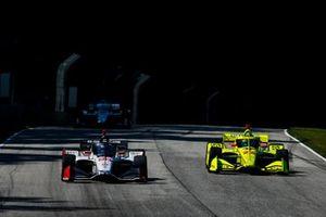 Marco Andretti, Andretti Herta with Marco & Curb-Agajanian Honda, Simon Pagenaud, Team Penske Chevrolet