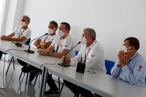 Race Director Mike Webb with FIM MotoGP Stewards and representatives