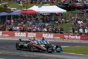 Patricio O'Ward, Arrow McLaren SP Chevrolet, Felix Rosenqvist, Chip Ganassi Racing Honda