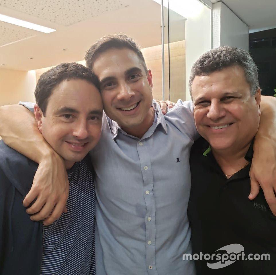 Téo José com Gustavo Villani e Pedro Bassan