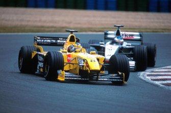 Heinz-Harald Frentzen, Jordan Mugen Honda 199, Mika Hakkinen, Mclaren MP4-14