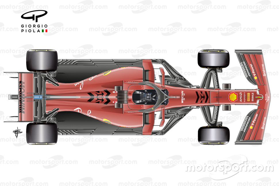 Ferrari SF90 top view