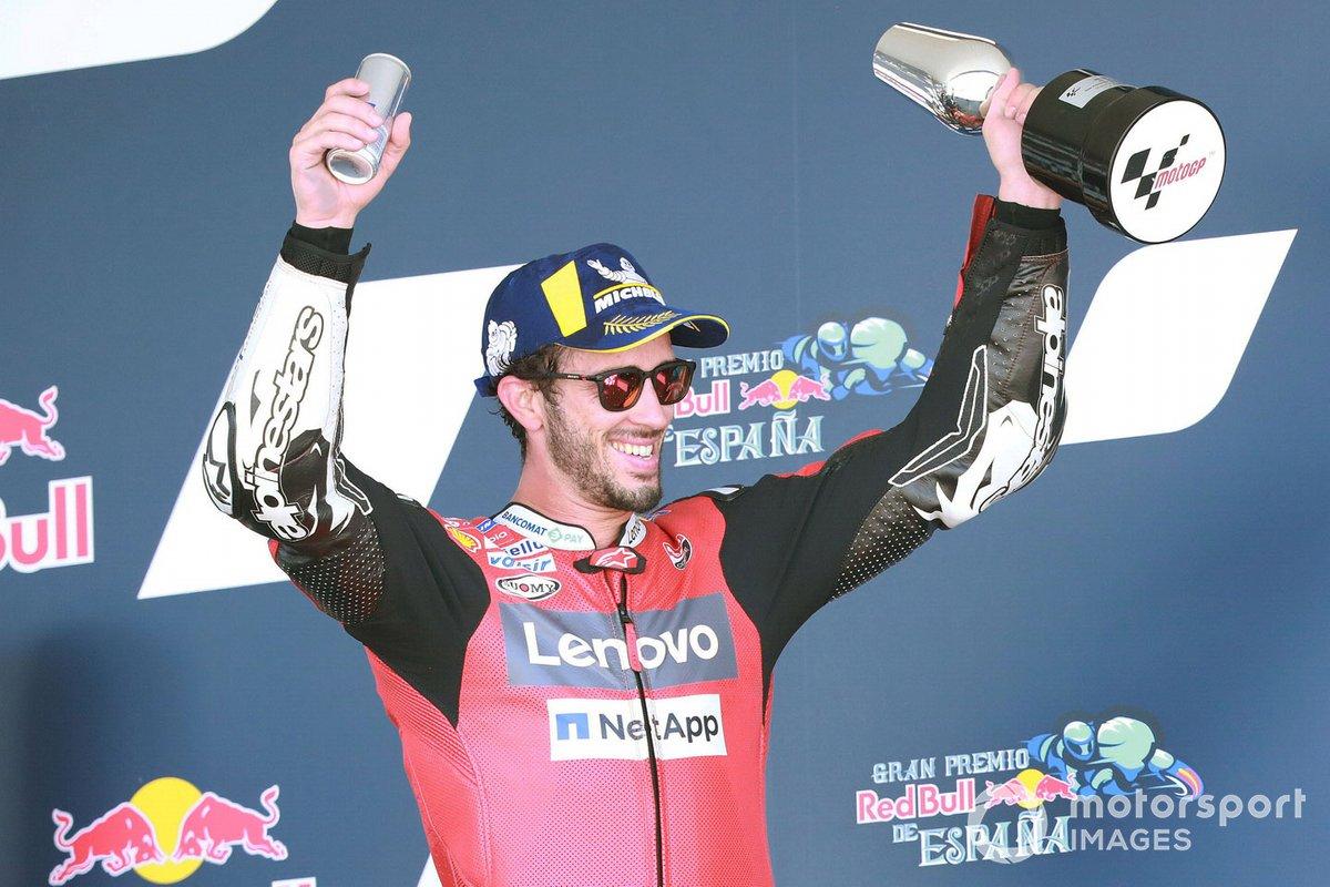 Tercer lugar Andrea Dovizioso, Ducati Team