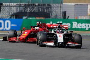 Romain Grosjean, Haas VF-20, Sebastian Vettel, Ferrari SF1000