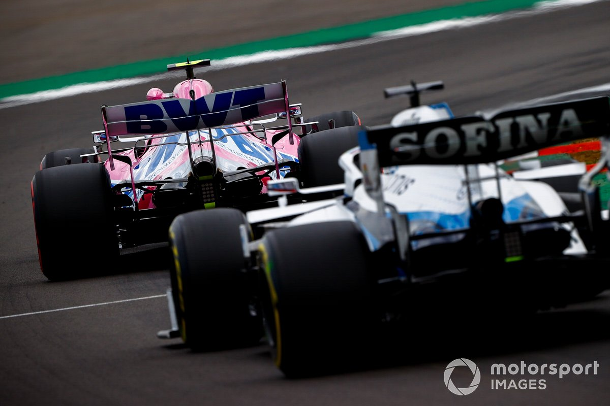 Lance Stroll, Racing Point RP20, George Russell, Williams FW43