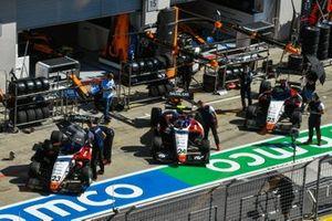 Niko Kari, Charouz Racing System, Igor Fraga, Charouz Racing System y David Schumacher, Charouz Racing System