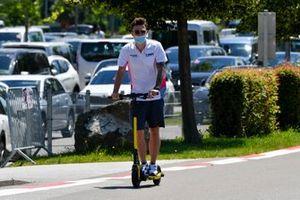 Artem Markelov, HWA Racelab on a scooter