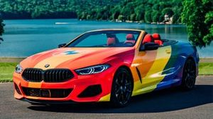 BMW Serie 8 Cabrio bandera multicolor