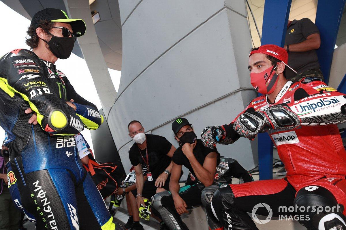 Valentino Rossi, Yamaha Factory Racing,Danilo Petrucci, Ducati Team