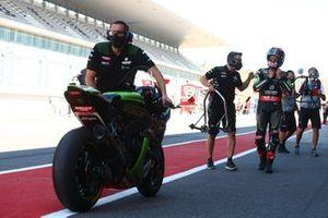Jonathan Rea, Kawasaki Racing Team fête sa pole position