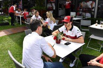 Antonio Giovinazzi, Alfa Romeo talks to the press