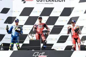 Joan Mir, Team Suzuki MotoGP, Andrea Dovizioso, Ducati Team, Jack Miller, Pramac Racing